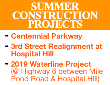 SUMMER CONSTRUCTION PROJECTS