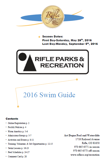 2016 Swim Guide Cover