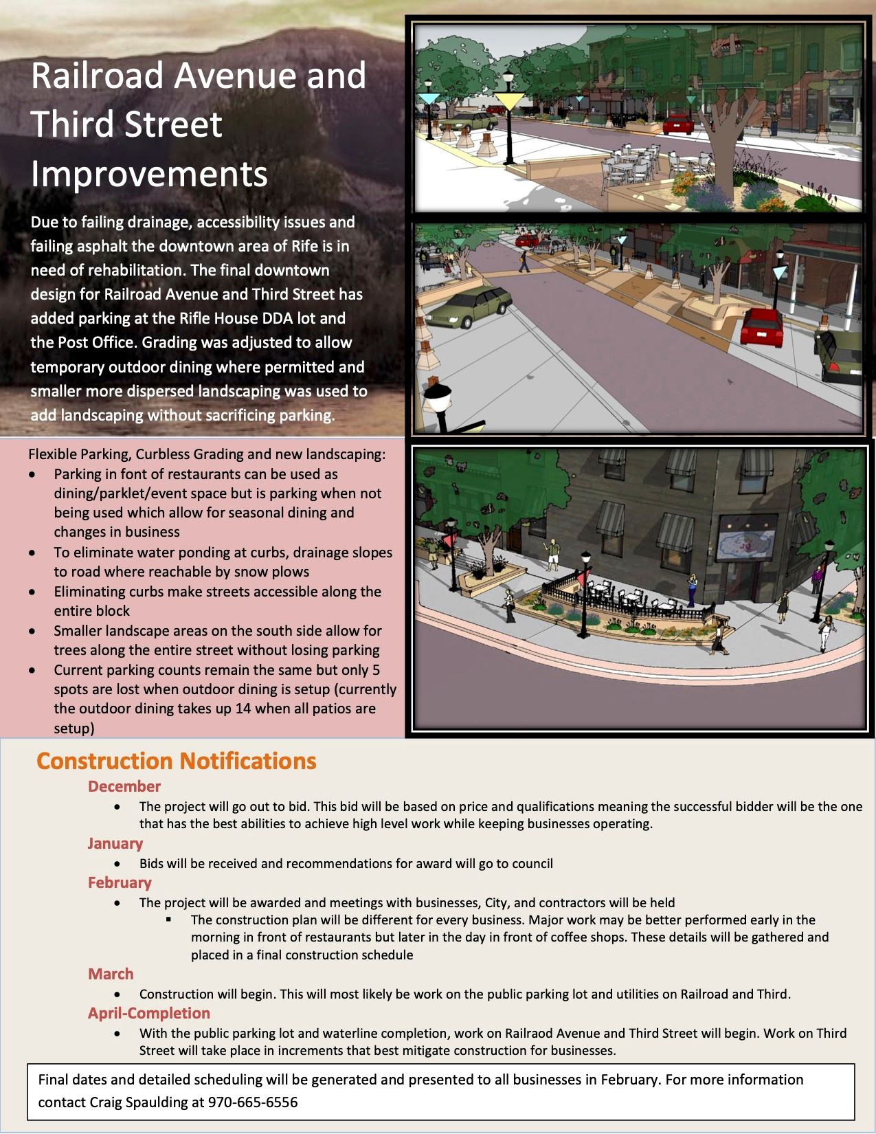 Railroad Ave and Third Street - Final Design Flyer jpg Opens in new window