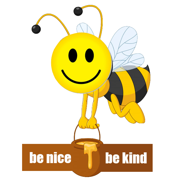 be nice be kind - bee